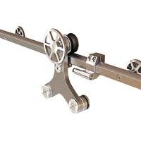 DIYHD твердый шестигранный трек сарай дверь оборудование вращающееся украшение спицевое колесо раздвижные сарай дверь оборудование для дере