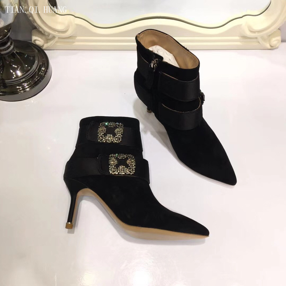 Lotus TAMARA Ladies Womens Genuine Leather Zip Up Mid Heel Ankle Boots Shoes