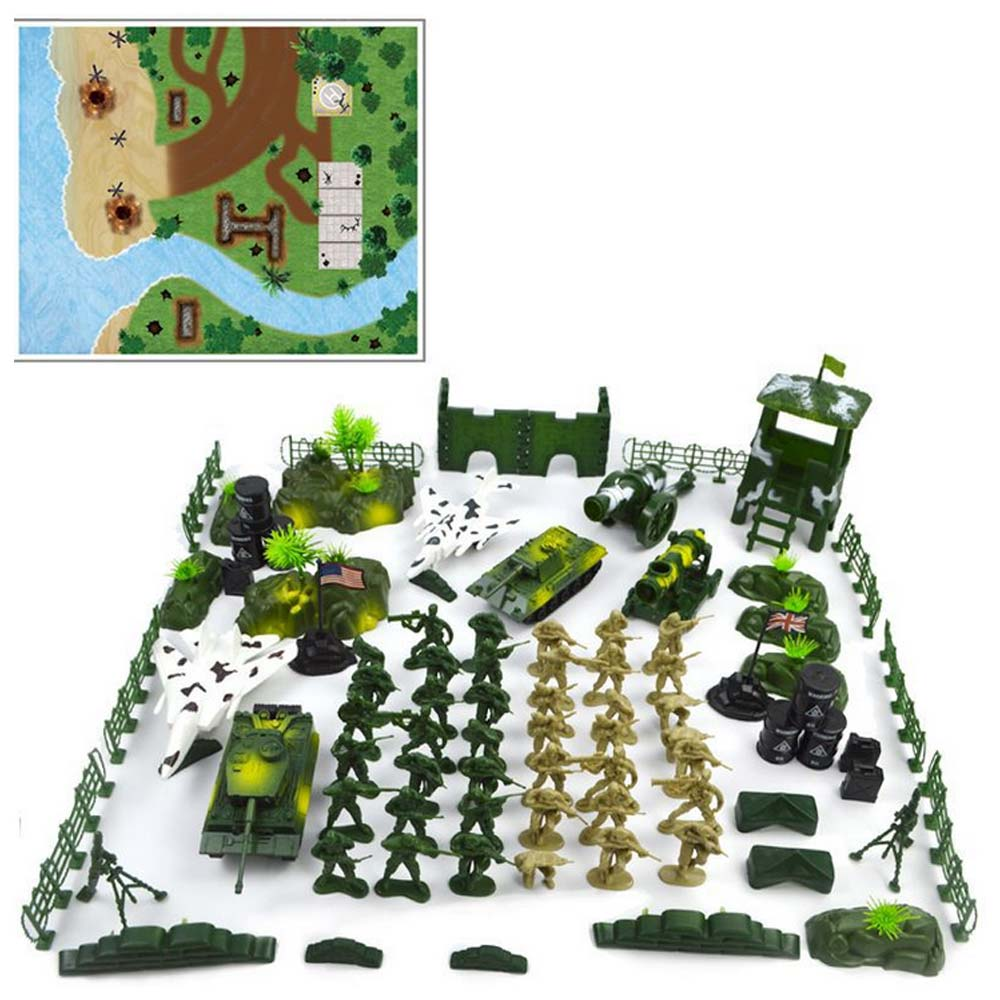 90pcs/set Military Scene Model Set Soldier Toys Army Men Figures & Accessories Playset Kit For Kids Best Birthday Gifts90pcs/set Military Scene Model Set Soldier Toys Army Men Figures & Accessories Playset Kit For Kids Best Birthday Gifts
