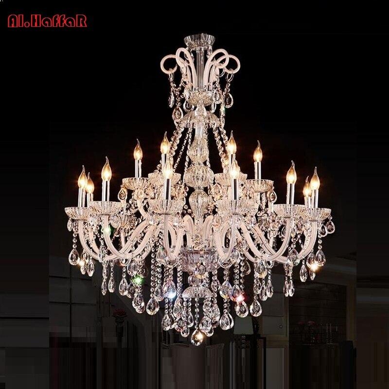 Image 2 - Chandelier Modern crystal chandeliers Livingroom Bedroom indoor lamp K9 crystal lustre de teto ceiling chandelier LED lights-in Chandeliers from Lights & Lighting