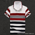 Men Polo Shirt 2016 Business Men Short Sleeve Polo Shirts Maroon Striped Cotton Polo Homme D1649