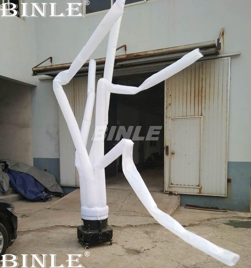 Personnalisé 4mH blanc danseur d'air gonflable ciel tube gonflable homme pour événements ou publicité