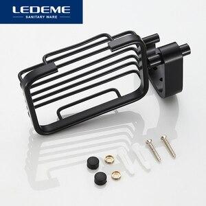 Image 5 - LEDEME Soporte de aluminio para jabón, jabonera de ducha, bandeja de baño, accesorios, estante de pared, L5502 1 de pintura en aerosol negro