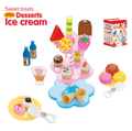 Free shipping Children play house toys Desserts ice cream stand standard package Assembled birthday gift brinquedos meninas