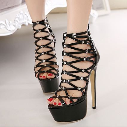 Aliexpress.com : Buy 2015 new women shoes summer leather high ...