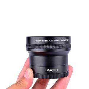 Image 3 - سوبر 0.21x58 مللي متر HD المهنية فيش ماكرو زاوية واسعة عدسة الكاميرا مرشحات لنيكون كانون EOS 700D 650D 600D 550D 50D18 55mm