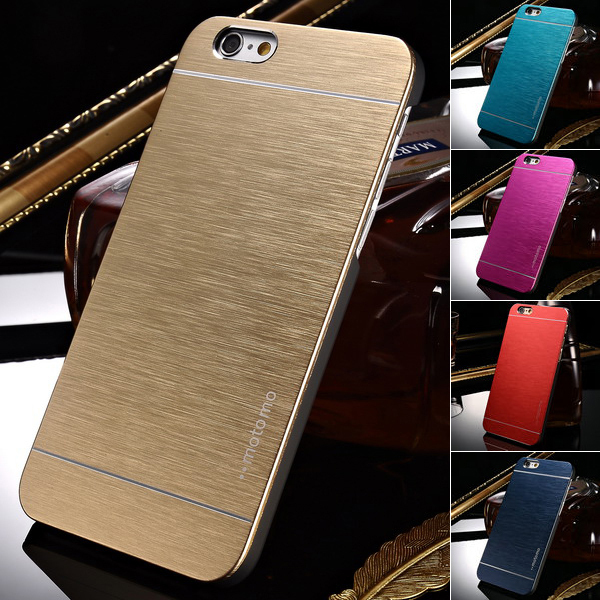 Luxury Aluminum Case for iPhone 6 4.7 Inches Phone Hard Aluminum Skin Plastic Back Cover Brand New 2015