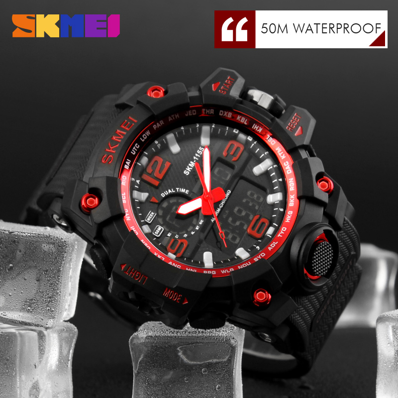 474cae052e9 Fashion Sport Super Cool Men s Quartz Digital Watch Men Sports Watches SKMEI  Luxury Brand LED Military Waterproof Wristwatches-in Digital Watches from  ...