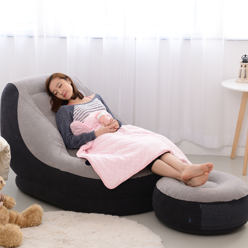 EC EC inflatable sofa bed linen creative people beanbag chair cushion thickening lovely recliner chair recliner FREE SHIPPING-in Living Room Sofas from ...  sc 1 st  AliExpress.com & EC EC inflatable sofa bed linen creative people beanbag chair ... islam-shia.org