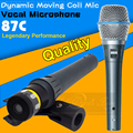 Free Shipping Beta 87 Beta87c Vocal Dynamic Handheld Wired Microphone Dynamic Mic BETA87A BETA 87A BETA 87C Karaoke Microfone
