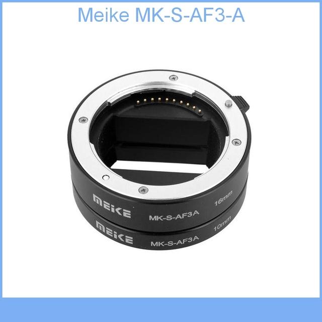 Meike Tubo De Extensão de Metal MK-S-AF3-A Tiro Próximo Anel Adaptador de Lente para Sony NEX Foco Automático Micro DSLR (10mm, 16mm) E-Mount Veio.