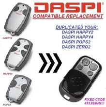 DASPI Happy 2, 4 Replacement, Universal remote control, transmitter 433.92 MHZ Key Fob