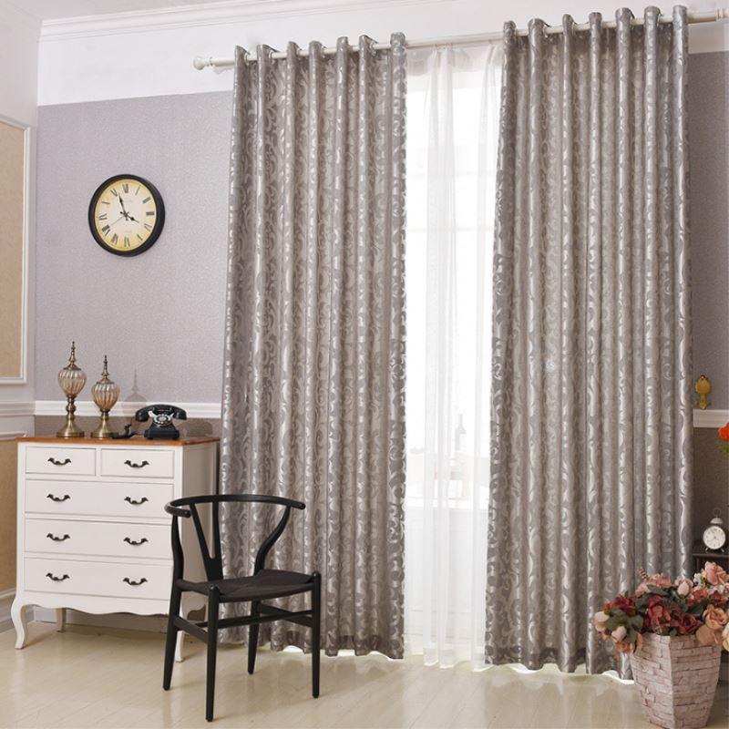 unid m gris europeo jacquard cortinas de la ventana balcn sala de