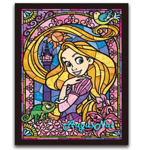 disney diamond painting full round alice in wonderland wall art cartoon princess kids painting toy children girls paint cavas(China)