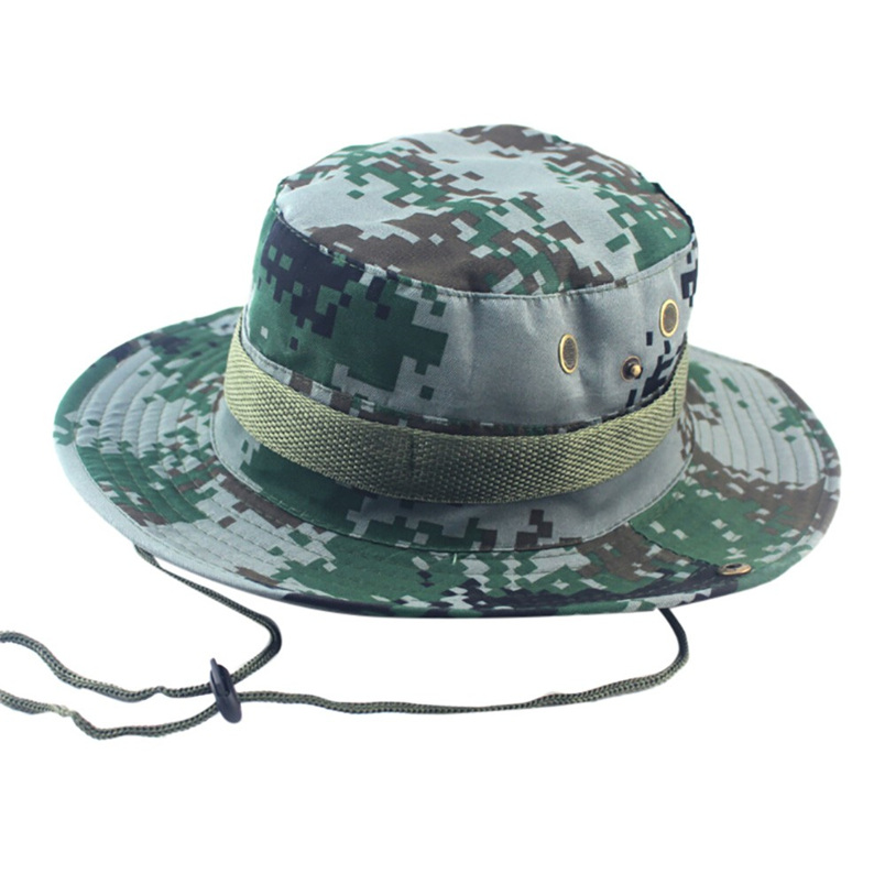 1f8af984e49 Adjustable Cap Camouflage Boonie Hats Nepalese Cap Army Mens Fisherman Hat  Outdoor Sun Protection Hunting Hat  J21-in Bucket Hats from Apparel  Accessories ...