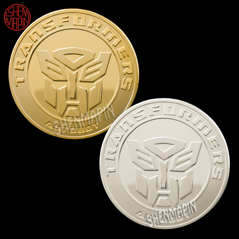 Deformed Robot Autobot Commemorative Coin Decepticon Avenger Animation Movie Coins Collectibles Cartoon Art Birthday Gifts image