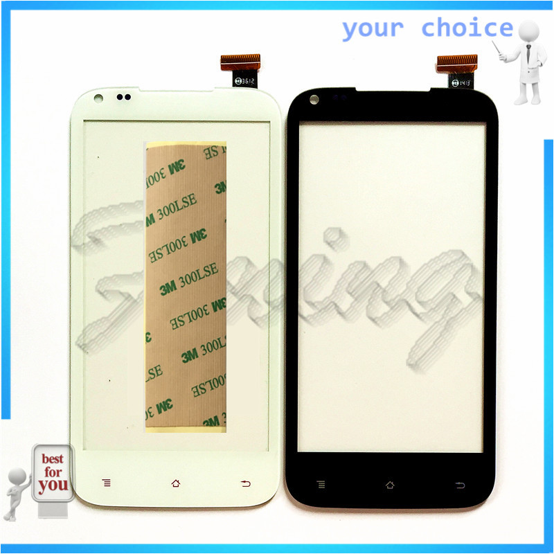 RUBINZHI Mobile Phone Touch Screen Glass Sensor For <font><b>DNS</b></font> <font><b>S4506</b></font> Touchscreen Digitizer Panel Lens Replacement +tape image