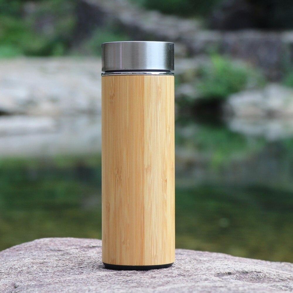 400ml bamboe reizen thermosflessen roestvrij staal waterfles - Keuken, eetkamer en bar - Foto 6