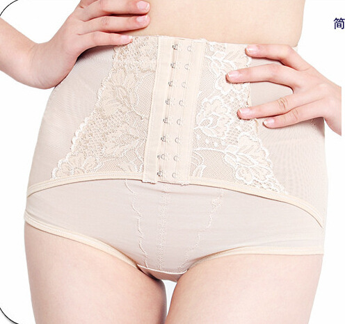 Venta caliente de seda bragas Abdomen corsé de la cadera pantalones de cintura delgada traje de cuerpo conformación perizoma xxxl de encaje señoras de la ropa interior del vientre de maternidad