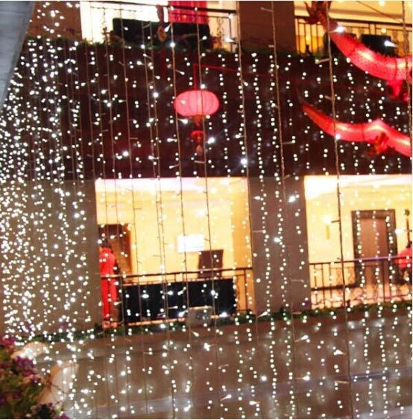 10x5 m 1600 SMD 8 Colori HA CONDOTTO LA Luce Della Stringa di Natale Wedding Party di capodanno Decorazioni Layout di Scena Tenda luce di sfondo - 2