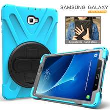 Armor Coque For Samsung Galaxy Tab A A6 10.1 SM-T580 T585 Hand Strap 360 Rotation Stand Case Cover for Samsung T580 T585 Case