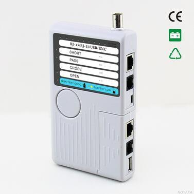 Livraison Gratuite! NOYAFA NF-3368 4-en-1 Ethernet testeur de câble Lan câble testeur (tests RJ45, RJ11, USB et BNC)