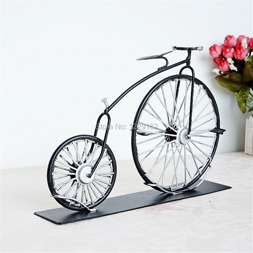 Fashion Vintage Bicycle Home Decor Wedding Gift Children S Creative Z Handmade Metal Retro Model In Figurines Miniatures From