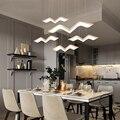 Белый цвет светодиодные подвесные люстры для гостиной столовой кухни Современные светодиодные люстры приспособление Бесплатная доставка