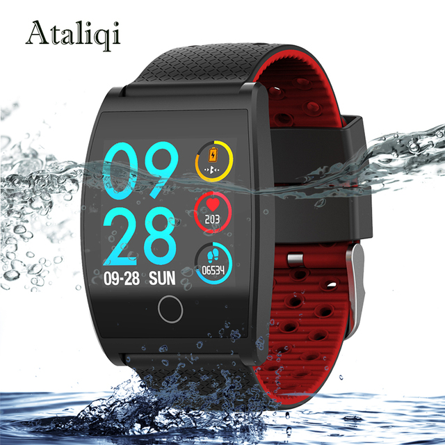 Ataliqi Smart watch IP67 Waterproof Fitness Tracker Heart Rate Monitor Blood Pressure Women men Clock Smartwatch For Android IOS