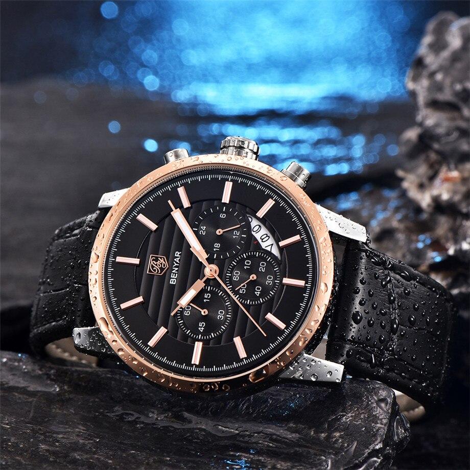 BENYAR Watch Men Waterproof Chronograph Business Dress Mans Watches Date Quartz Wristwatches Male Hour relogio masculino 2017 (21)