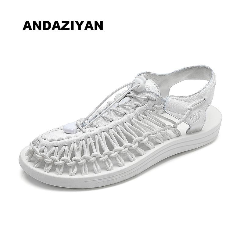 Casuales blanco azul gris rojo Hombres 2019 Fondo Playa Par Zapatos Suave Nuevo Negro Sandalias Tejido De Los O6wqOzZa