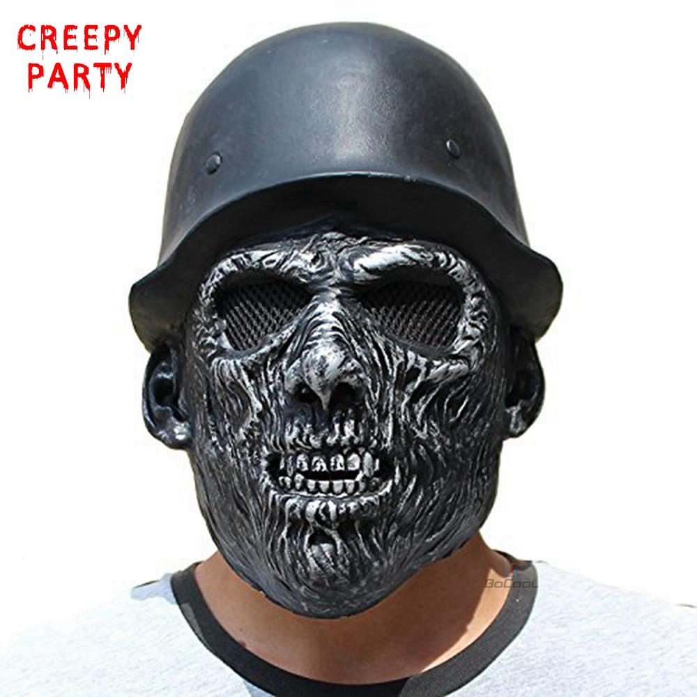 할로윈 무서운 두개골 마스크 현실적인 좀비 모자 통풍 라텍스 마스크 성인 전체 얼굴 멋진 드레스 파티 마스크 코스프레 의상