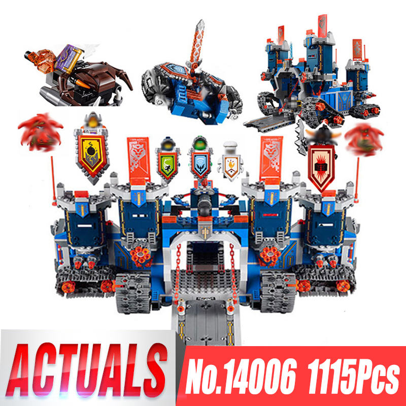 Lepin 14006 Nexoe The Fortrex Nexus 1 Knights Building Blocks Bricks kit Toys Set Castle Weapon Clay Aaron Fox Axl legoing 70317 lepin 14004 knights beast master chaos chariot building bricks blocks set kids toys compatible 70314 nexus knights 334pcs set
