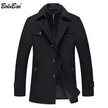 BOLUBAO, мужское зимнее шерстяное пальто, новинка, высокое качество, однотонный цвет, Простая смесь, шерстяное бушлат, мужской Тренч, пальто, повседневное пальто