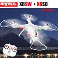 Syma x8sw drone rc 2.4g 4ch 6-axis quadcopter con 720 p fpv wifi cámara o x8sc con 2.0mp hd cámara rc helicóptero de syma aviones no tripulados
