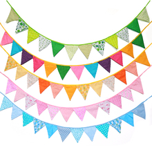 2.7m Fabric Garlands Banner Flags Pennant Bunting for Kids Room Baby Shower Birthday Wedding Decorations