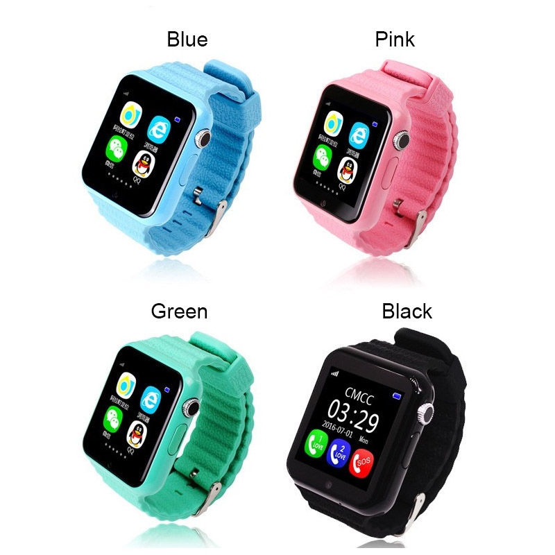 Image 3 - V7k Kids Smart Watch GPS Global Location Baby Child Watch Phone Finder Tracker Camera Anti lost SOS Safe Voice Call PK Q50 Q90-in Smart Watches from Consumer Electronics