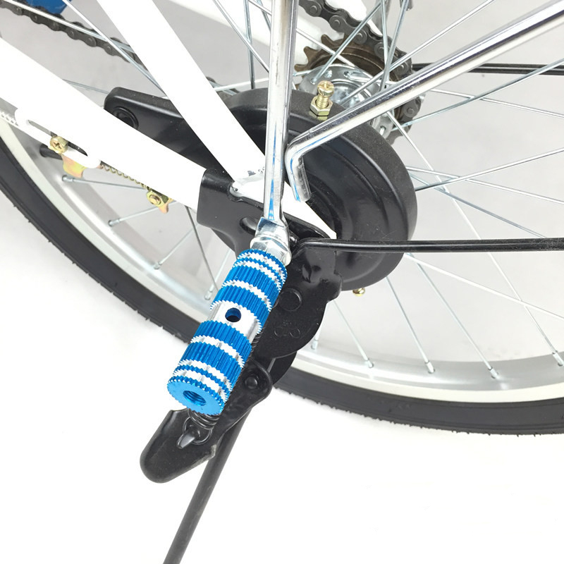 2PCS Bike Pedals Aluminum Alloy Axles BMX   Pedal Bicycle Stunt Foot Peg ne FL