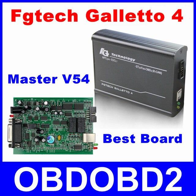 Master V54 Fgtech Galletto 4 Unlock Version FG Tech ECU Chip Tuning Tool Programmer For Car Truck Motor Add OBD BDM Function