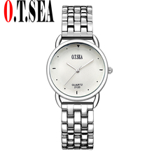 Sizzling Gross sales O.T.SEA Model Spherical Dial Stainless Metal Watches Ladies Women Gown Quartz Wristwatches Relogios Feminino 2120