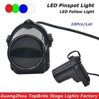 10XLot High Quality 5W Cree LED Pinspot Light Mini LED Moving Head Beam Lights 90 240V
