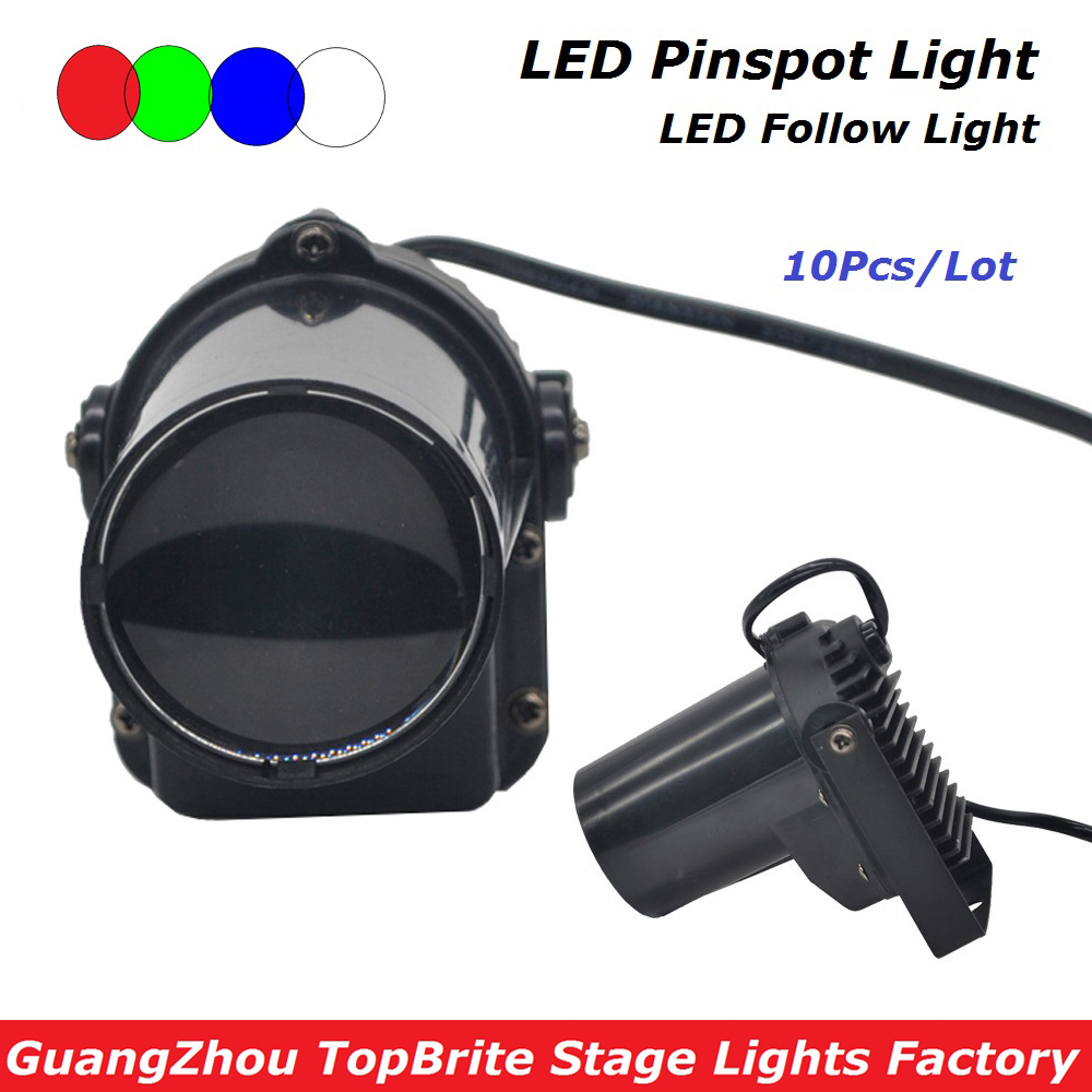 10XLot High Quality 5W Cree LED Pinspot Light Mini LED Moving Head Beam Lights 90-240V, Led Pinspot Light For Stage Disco Lights