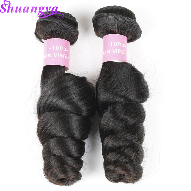 Malaysian Loose Wave 100% Human Hair 1PC Remy Hair Extension 10″-28″ Natural Color Human Hair Weave Bundles Ship Free Shuangya