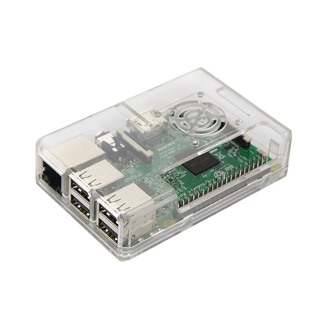 New Raspberry Pi 3 B Case Abs Box Case With Cooling Fan Hole 4