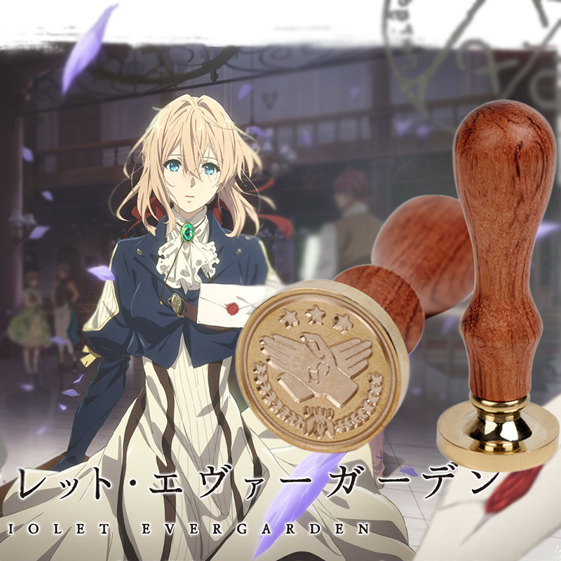 Wax Seal of Anime Auto Memories Doll Figure Violet Evergarden Retro Seal Wax Animation Cosplay Props Gift Pack Dropshipping