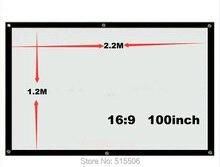 Разбросаны проекционный рамки дюймовый передняя проектор матовый без экран складной белый