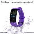 D21 Pulseira Monitor De Freqüência Cardíaca Relógio Inteligente para IOS/Android Telefone Chamada Lembrete Mensagem Despertador Contador de Passos