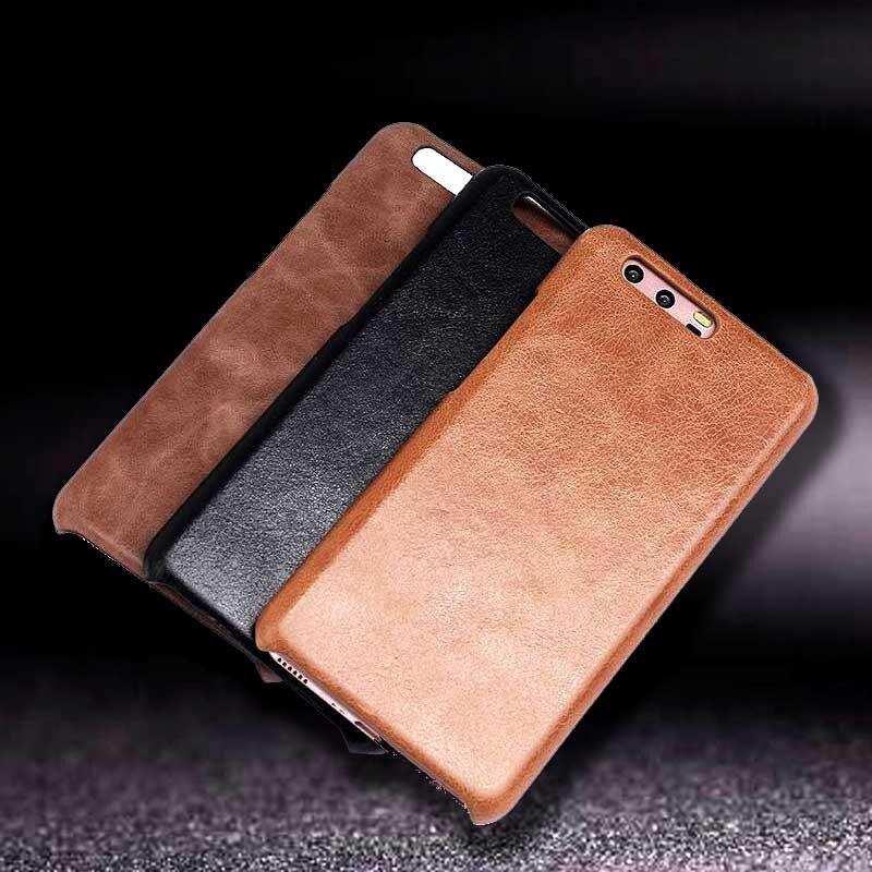 Funda de cuero genuino para Huawei P10 Plus Funda protectora con - Accesorios y repuestos para celulares
