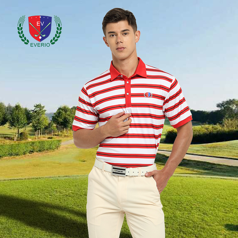 2018 nouveau hommes De Golf chemises Rayé conception à Manches courtes jersey golf appreal d'été sportswear Vêtements Polo T chemise De Golf tops 5 couleur