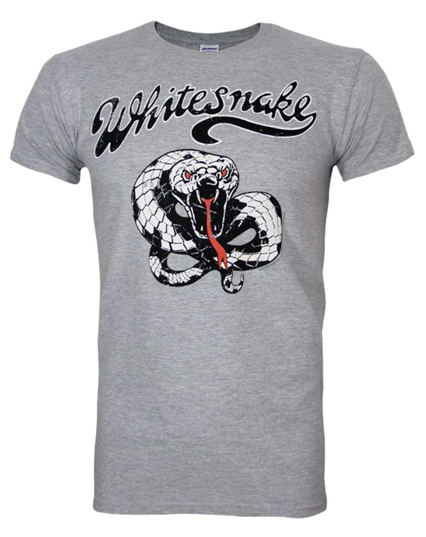T shirt whitesnake - 2017 Summer Official Whitesnake Vintage Snake Printed Men S Fashion T Shirt Hipster Tops Customize Printed Short Sleeve Tees